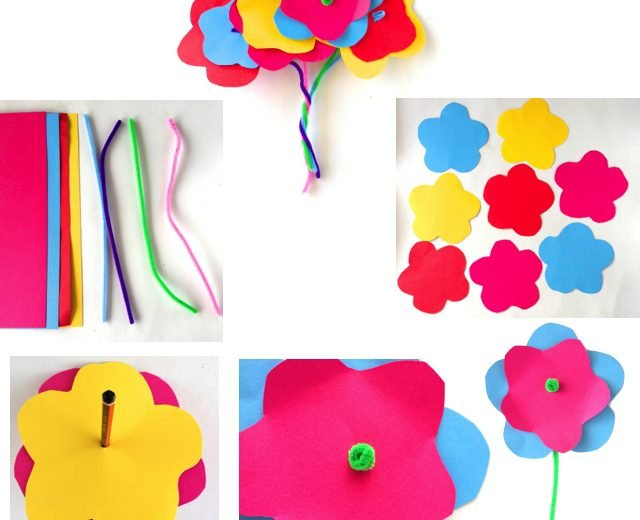 cardboard-flower-craft-for-kids